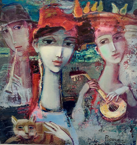 The Musicians by Oksana Popova - Green Gallery