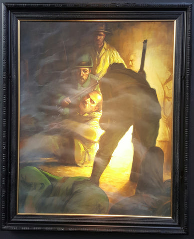 'James Connolly Wounded' framed print by Norman Teeling - Green Gallery