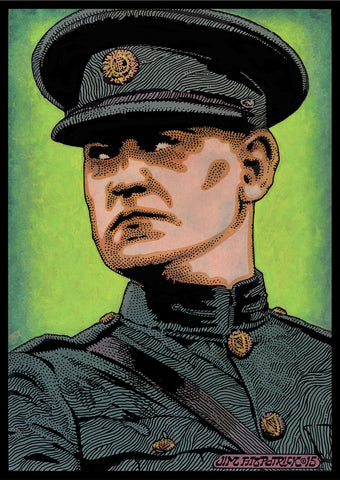 Michael Collins framed on deposit