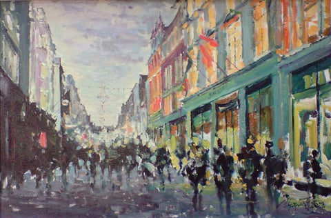 Magical Colours of Grafton St by Tetyana Tsaryk - Green Gallery