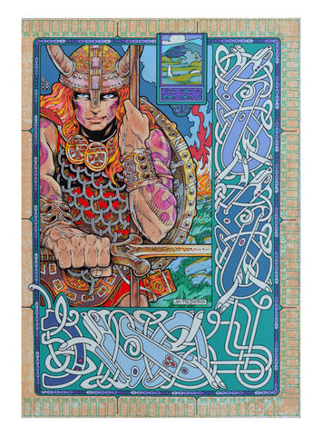 Nuada The Warrior King by Jim FitzPatrick - Green Gallery