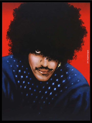 'Phil Lynott Portrait 1981 Red'
