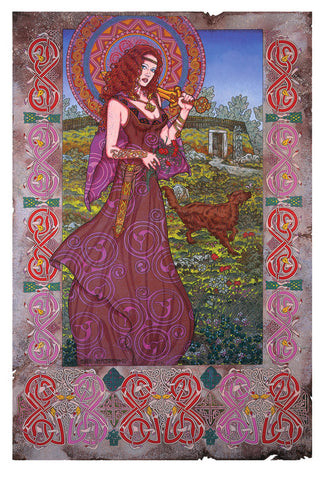 'Medb Queen Of Connacht' by Jim FitzPatrick - Green Gallery