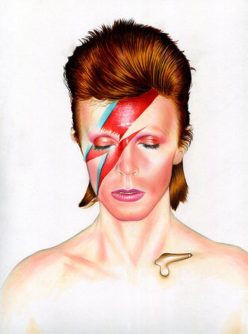 'David Bowie Aladdin Sane II' by Shane Mc Cormack - Green Gallery