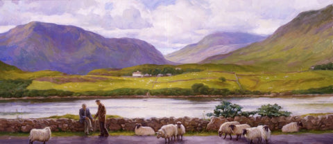 Shepherd with Sheep, Leenane