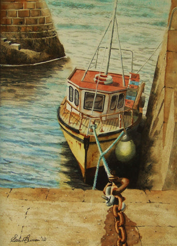 Trawler at Fethard Quay - Green Gallery
