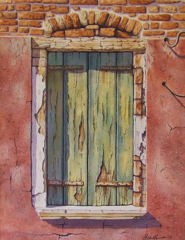 Window Shutter. Burano, Venice by Sean Curran - Green Gallery