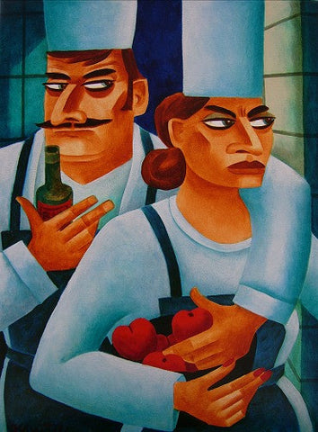 A Man and A Woman Chef by Graham Knuttel - Green Gallery