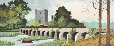 Bective Abbey and Bridge. River Boyne Co. meath