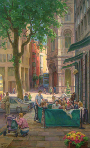Outside Starbucks, Foster Place - Green Gallery