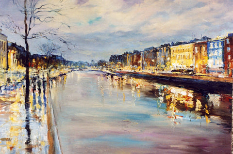 Towards Ha'penny Bridge by Tetyana Tsaryk - Green Gallery