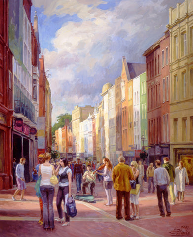 Grafton Street Afternoon - Green Gallery