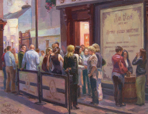 Outside Kehoe's Bar, St Ann's Street - Green Gallery