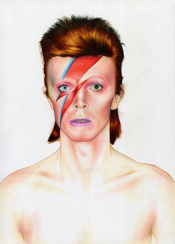 'David Bowie Aladdin Sane' by Shane Mc Cormack - Green Gallery