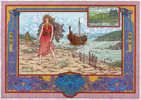Grace O'Malley and Clare Island by Jim FitzPatrick - Green Gallery