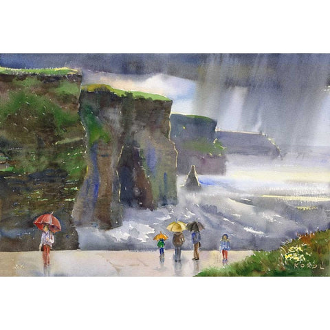 Rain on Cliffs of Moher - Green Gallery