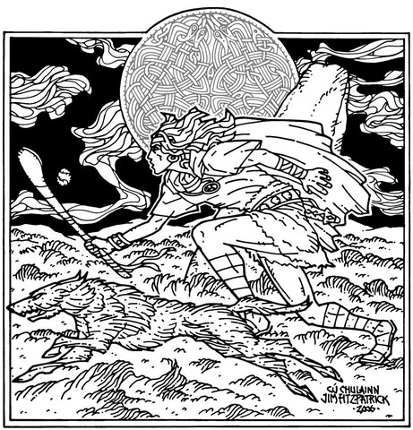 Cú Chulainn by Jim FitzPatrick - Green Gallery
