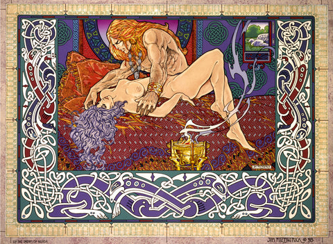 The Dream Of Nuada by Jim FitzPatrick - Green Gallery