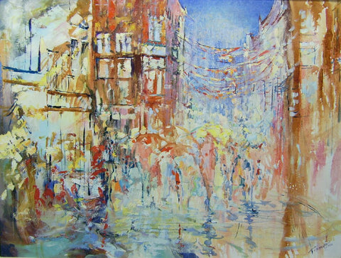 'Dancing Lights Grafton Street' by Tetyana Tsaryk - Green Gallery