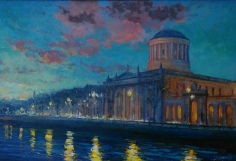 Four Courts at Dusk
