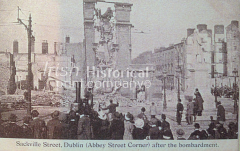 Sackville St, Dublin after the Bombardment