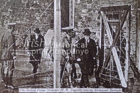 The British Prime Minister, H. H. Asquith, Leaving Richmond Barracks - Green Gallery