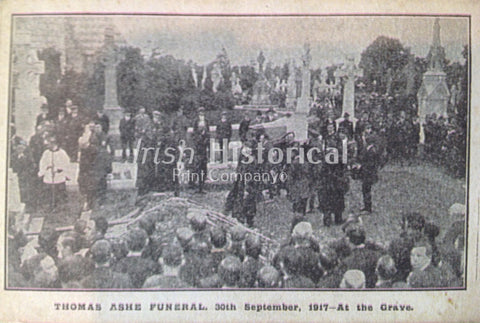 Thomas Ashe Funeral, 30th September, 1917 - At the Grave - Green Gallery