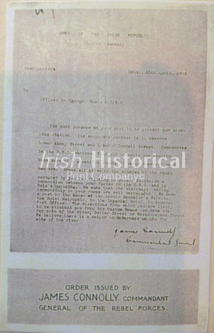 Order Issued by James Connolly - Green Gallery