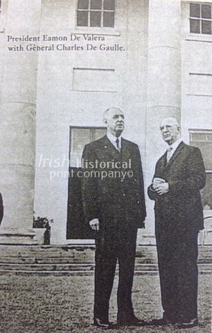 President Eamon de Valera with General Charles de Gaulle - Green Gallery