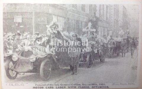 Funeral of Michael Collins - Motor Cars Laden with Floral Offerings