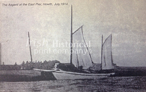The Asgard, at the East Pier, Howth, July 1914 - Green Gallery