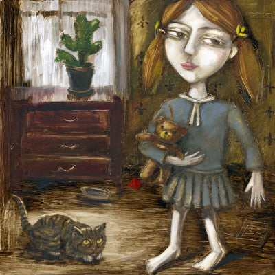 Playing With Kitten by Ludmila Korol - Green Gallery