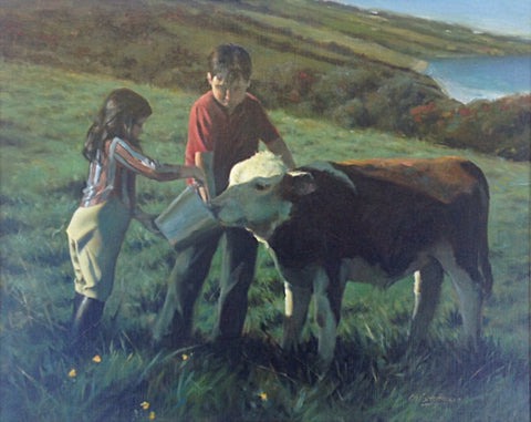 'The Pet Calf' - Green Gallery