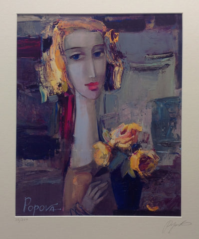 Yellow Flowers by Oksana Popova - Green Gallery