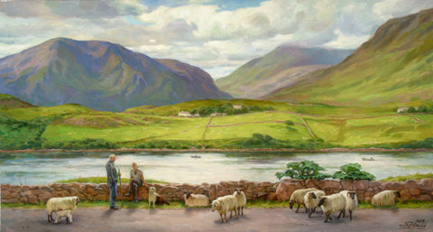 Shepherds In Conversation. Lennane. Connemara