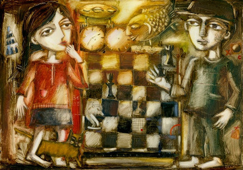 Chess Players by Ludmila Korol - Green Gallery
