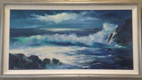 The Crashing Sea by Arthur K. Maderson - Green Gallery