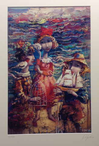 At The Seaside by Oksana Popova - Green Gallery