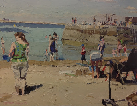 People Watching, Sandycove by Stephen Cullen - Green Gallery