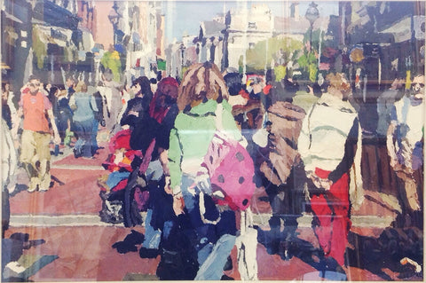 A Busy Day On Grafton Street by Stephen Cullen - Green Gallery