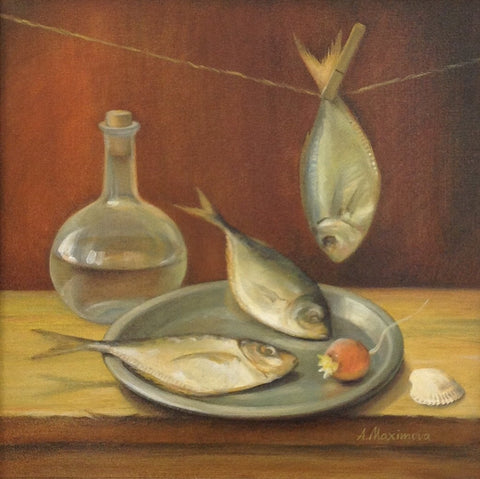Still Life with Fish by Angela Maximova - Green Gallery