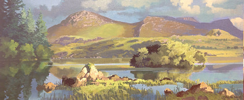 Rock Of Ages. Ballynahinch Lake. Connemara by John F. Skelton