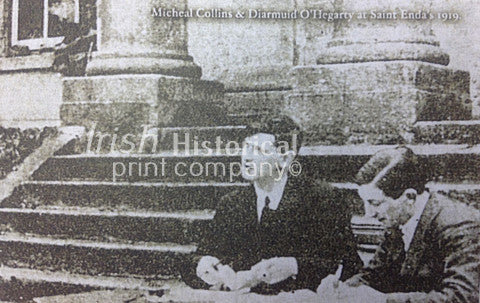 Michael Collins and Diarmuid O'Hegarty at St. Enda's 1919 - Green Gallery