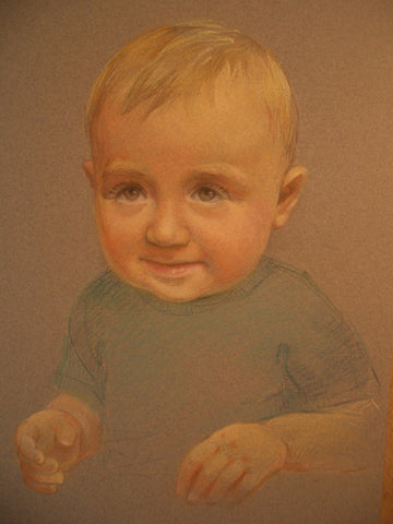 Little Boy commissioned portrait - Green Gallery