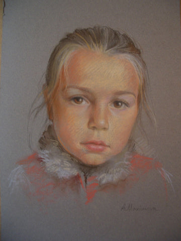 Little Girl Portrait - Green Gallery