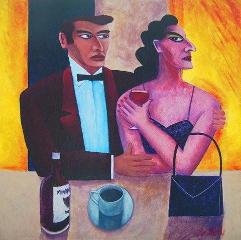 Man And Woman At A Bar by Graham Knuttel - Green Gallery