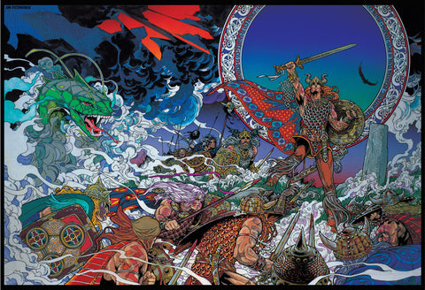 Nuada The High King by Jim FitzPatrick - Green Gallery