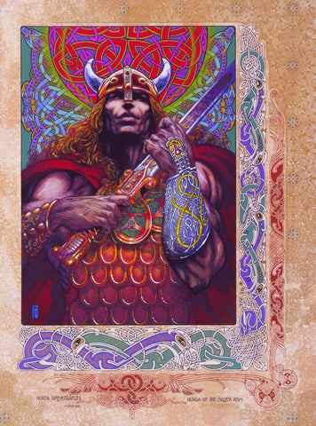Nuada Silverarm by Jim FitzPatrick - Green Gallery