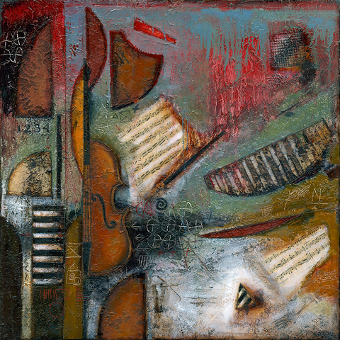 'Ode To A Violin' - Green Gallery