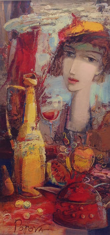 Wine And Wonderment by Oksana Popova - Green Gallery